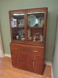 Art Deco China Cabinet/Hutch (matching pieces available)