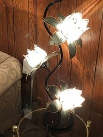 Mid-century reproduction lotus lamp