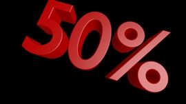 (Sunday) Everything half off today EXCEPT RED PRICED ITEMS! Come see us!!