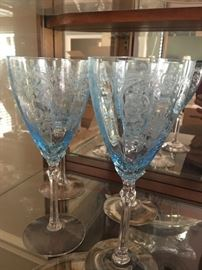 Fostoria Claret Wine Versailles Blue