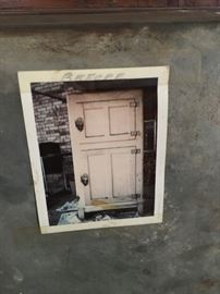 "Picture of the original ice box ""before"" restoration"