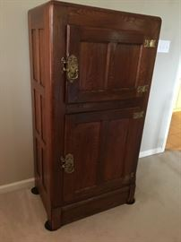 Antique ice box, completely restored.  Beautiful piece