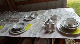 Nice sets of china and serving dishes for your holiday table