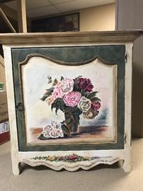 Small painted cabinet....