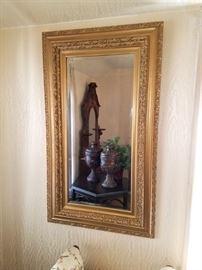 Beautiful wood framed wall mirror