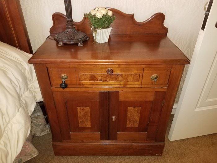 """Antique nightstand - 28-1/2"""" x 15-1/2"""""""
