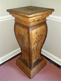 Large painted plant stand/pedestal
