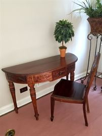 Gorgeous half round decorative desk/sofa table