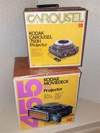 8mm and slide projectors