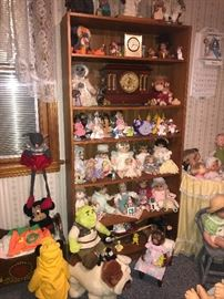 Dolls, dolls and more dolls!! Bookcase unit as well!