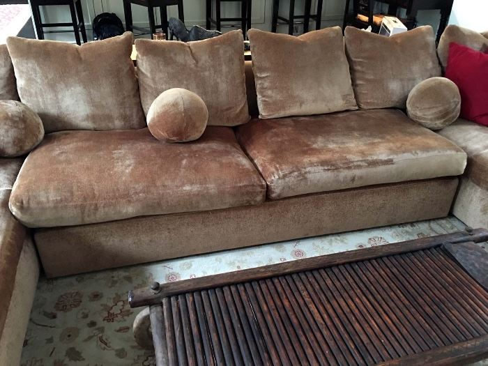 KREISS Mambo Sectional Sofa w/ two Chaise Lounge, Love Seat and Loose Pillow Back