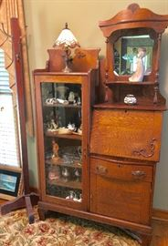 Antique Stepback Cabinet