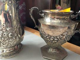 19th century double-handled sugar bowl