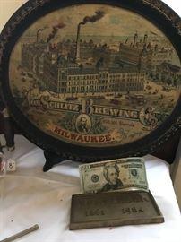 Schlitz Brewing Serving Tray (very old)