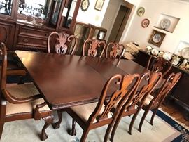 18th century style dining room table