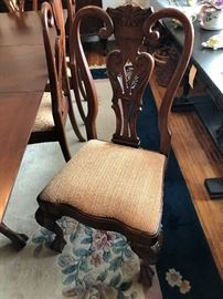 18th century style dining room table 6- chairs