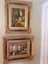 Oil on board paintings