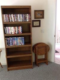 Book Case & Oak TV trays