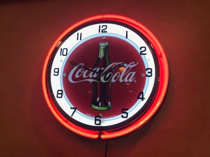 1991 Coca Cola neon clock