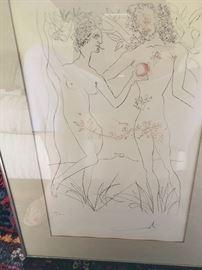 Pencil Signed Dali Print