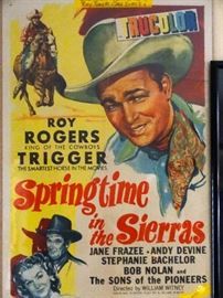 Authenticated Roy Rogers Poster