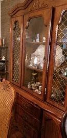 Beautiful china hutch with matching dining room set