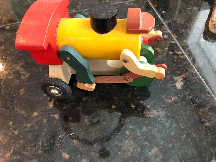 Pull toy train