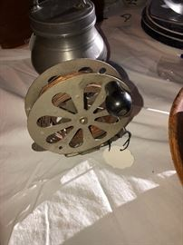 Large antique fishing fly reel