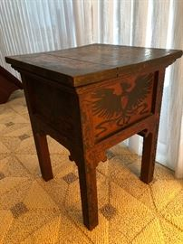 Antique German table, carved