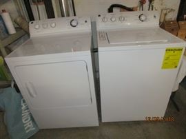 Less than a year old GE washer and dryer set (sold as a pair only)