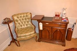 Chair with original covering and American Drew Server