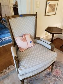 Empire style upholstered chair