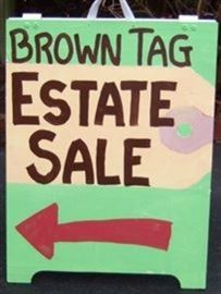 Brown tag sign