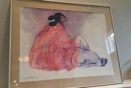 RC Gorman framed print