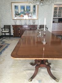 Baker Furniture Banded Edge Dining Table