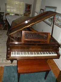 An Erard fortepiano made in London in 1863.