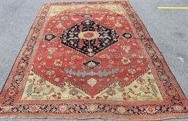 Antique and Finely Handmade Heriz Carpet