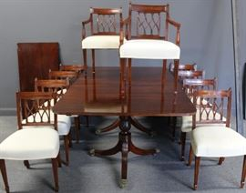 Antique Mahogany Dining Set To Inc