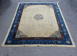 Antique and Finely hand Woven Chinese Carpet