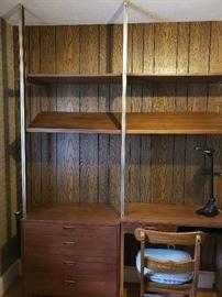 Officer wall unit w/ attached desk and cabinet.