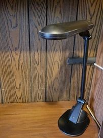 Black office desk lamp.