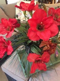 One of several floral arrangements.