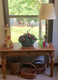 Entry or sofa table. We also have lots of baskets and they are priced to go!