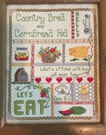 Hand made cross stitch for the kitchen