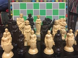 Vintage medieval chess pieces