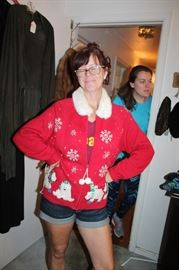 Maw Maw and her Christmas Sweater :P