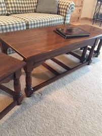Early American style nesting tables - one long and two short