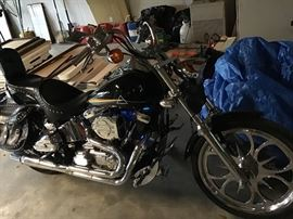 "1998 Soft-tail Harley Davidson FX STC ""Pink Floyd"" Custom Paint Boarded out & stroked 35,000 Miles"