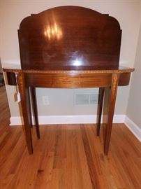 Antique Inlaid Flip Top Table