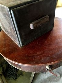 Barrel Tables and Filing Cabinets...